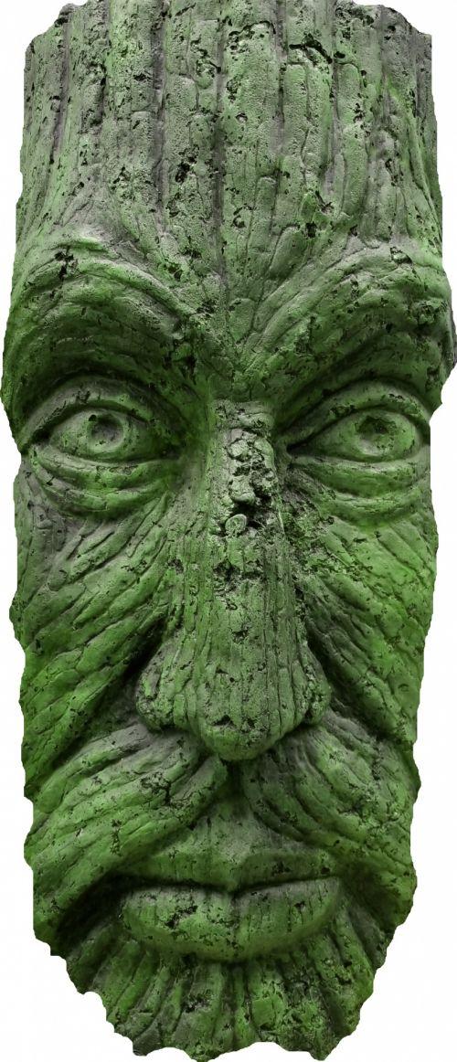 Mask Totem Man Green