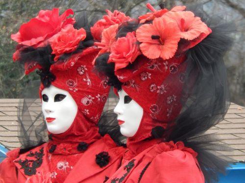 masks red costume