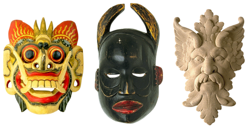 masks wooden mask souvenirs