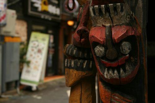 masks wooden masks korea