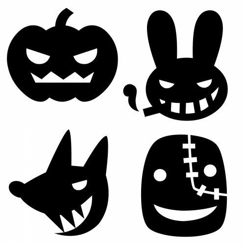Masks Black On White