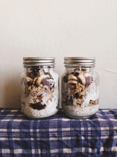 mason jars granola