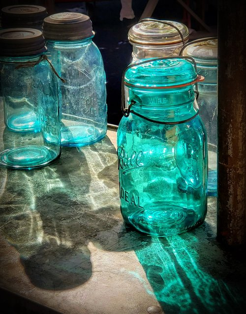 mason jar  glass  light