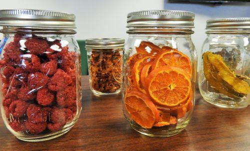 mason jars dehydrated fruit