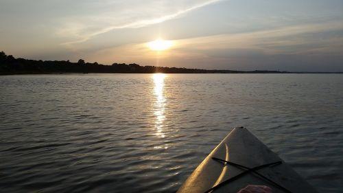 massachusetts kayaking sunset