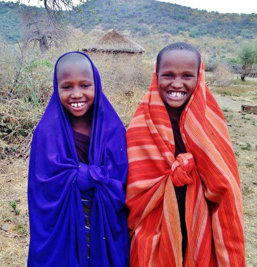 massai children people