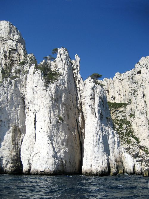 massif of the calanques limestone cliffs