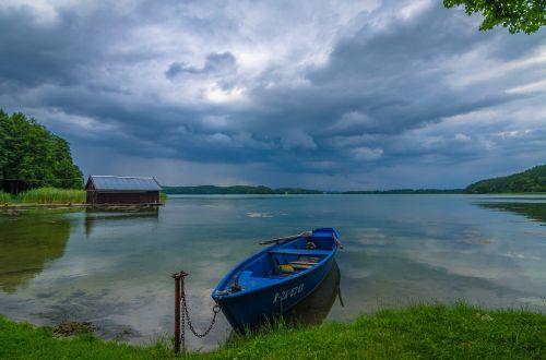 masurija,valtis,ežeras,debesys,saulėlydis,vaizdas,kraštovaizdis,dangus,Lenkija,nuotaika,kaimas,gamta,vasara