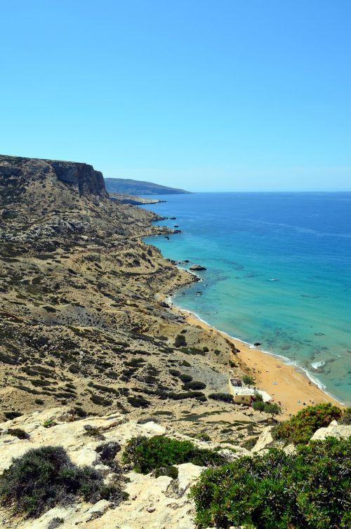 matala greece red beach