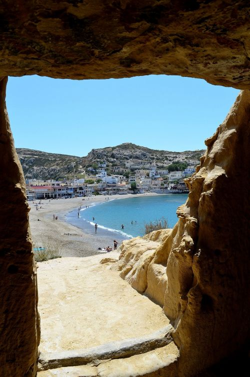 matala greece cave
