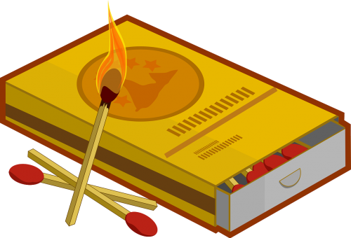 match burning fire