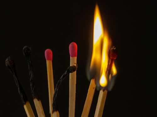 match sticks flare-up