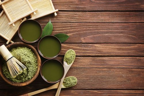 matcha powder fresh green