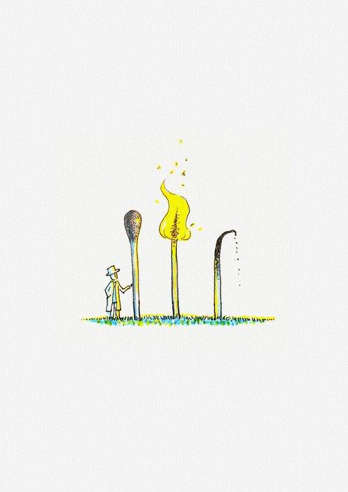 matches  burning  passing