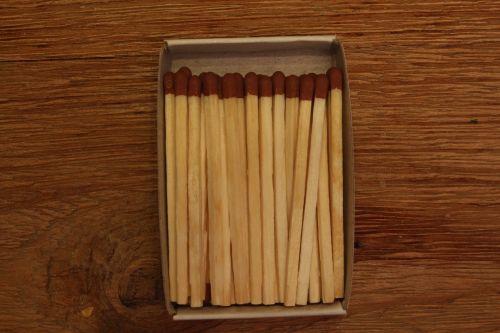 matches wood box