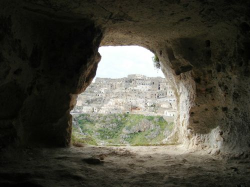 matera caves cave southern italy