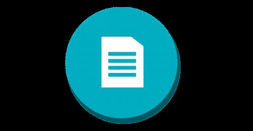 material icon doc icon document