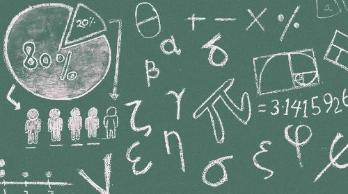 math symbols blackboard