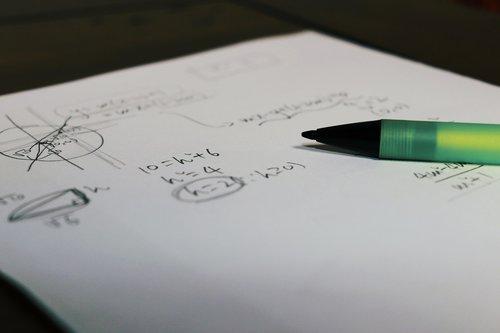 math  study  pencil