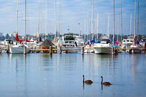 matilda bay wa right boats blue