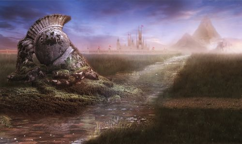 matte painting stock background painting