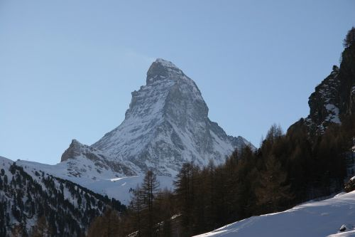 matterhorn winter mountain