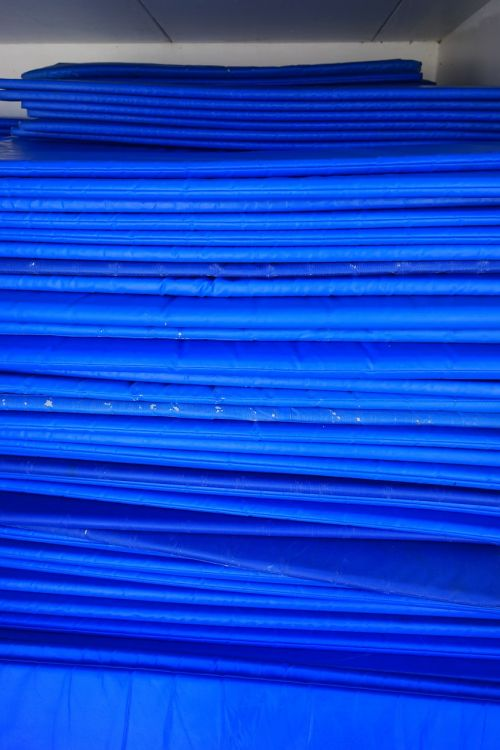 matting blue sleeping mats
