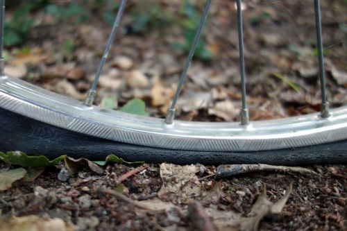 mature platt flat tire