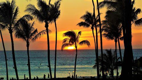 maui sunset hawaii