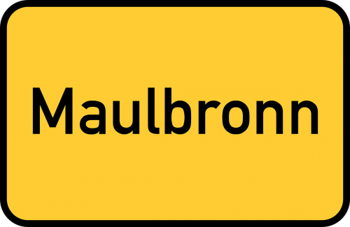 maulbronn baden-württemberg town sign