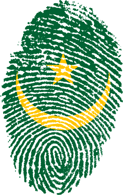 mauritania flag fingerprint