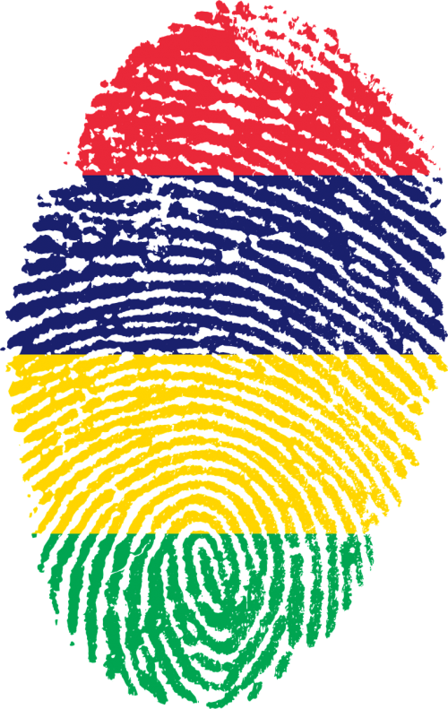 mauritius flag fingerprint