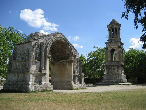 mauzoliejus,lankas,romėnų,glanum,saint-rémy-de-provence,archeologija