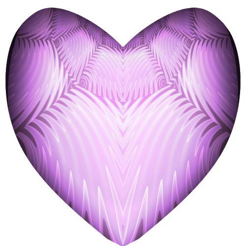 Mauve Swirl Pink Heart