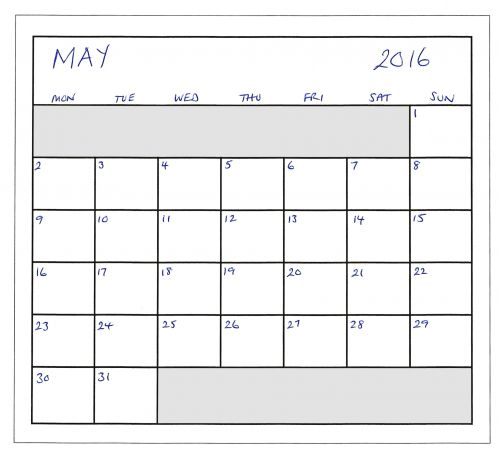 May 2016 Planner