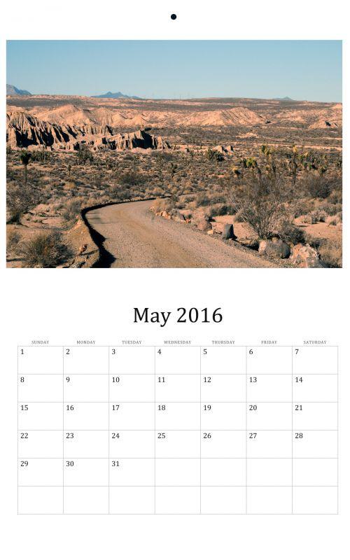 May 2016 Wall Calendar