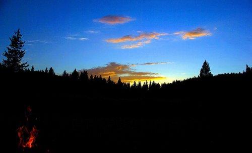may creek twilight  sunset  twilight