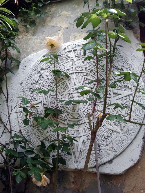 maya stone relief