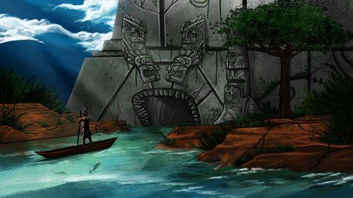 maya illustration boat