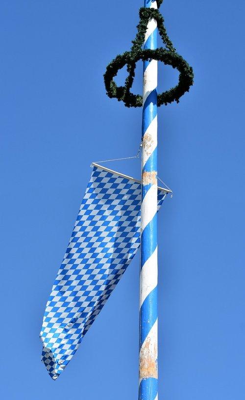 maypole  flag  bavaria
