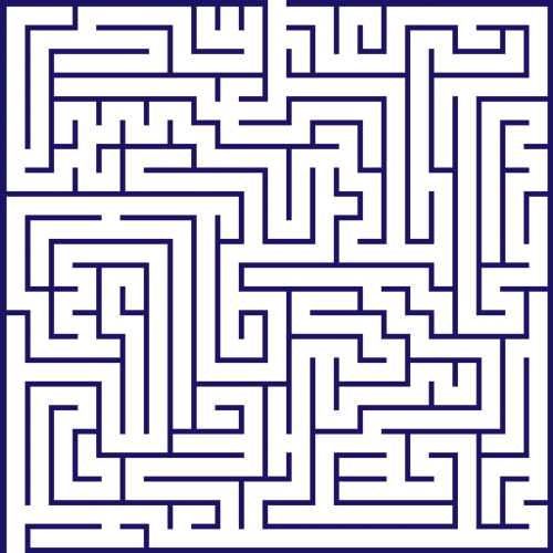 maze lost confusing