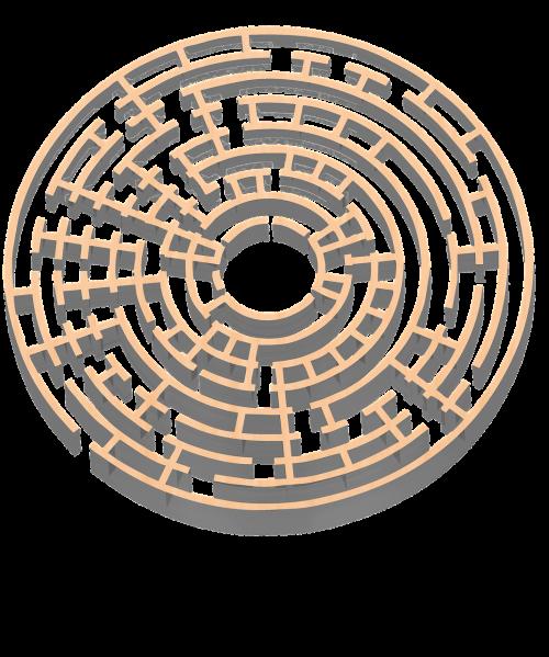 maze 3d gold