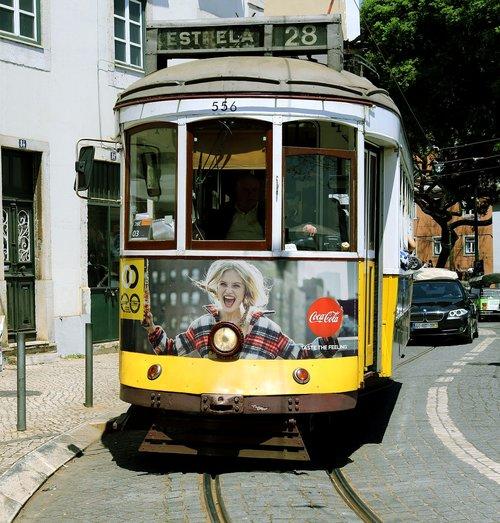 means of transport  tram  lisbon