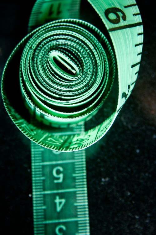 measuring tape rolled tape