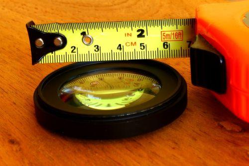measuring tape measure lens