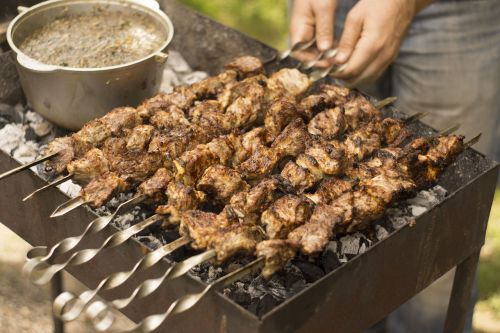 meat grill shish kebab