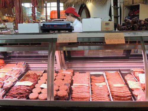 meat embedded burger