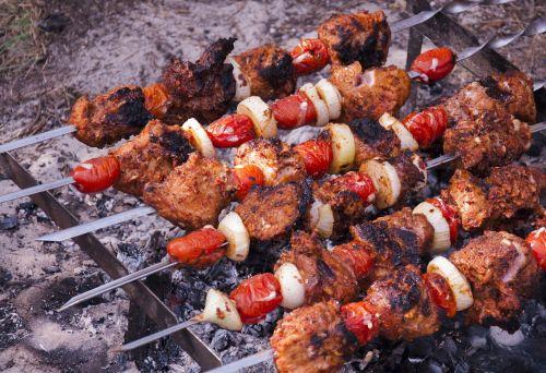 meat kebab barbecue