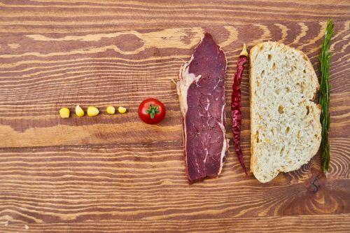 meat bacon bread