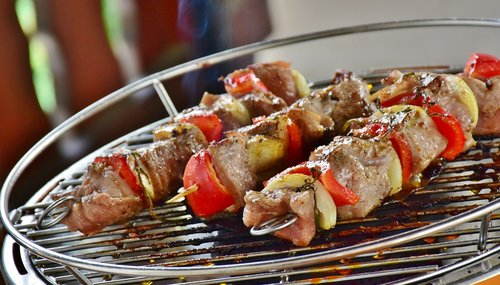meat  meat skewer  barbecue